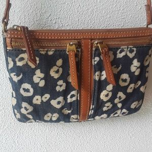 Fossil Denim and Leather Crossbody